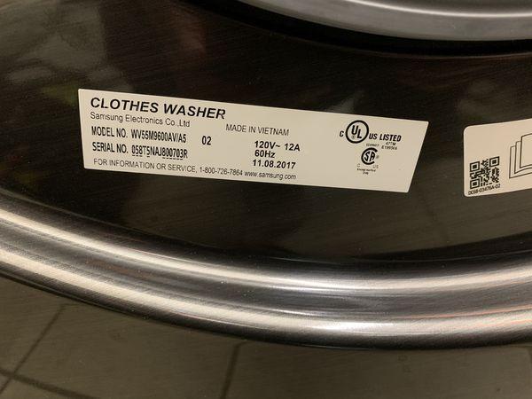 Samsung FlexWash 5.5 Total-cu ft High Efficiency Front-Load Washer (Black Stainless Steel) ENERGY STAR & Gas Dryer