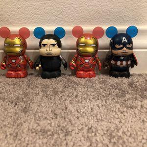 "Disney Vinylmation 3"" Marvel Civil War Series Captain America Iron man 4 For $10 for Sale in Ontario, CA"