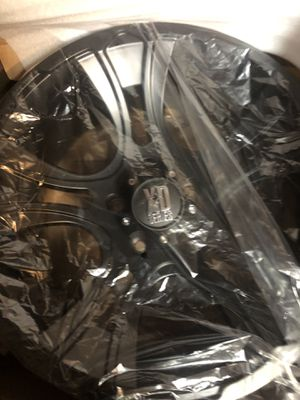 Matte black XD series KMC rims 18 inch brand new for Sale in Downers Grove, IL