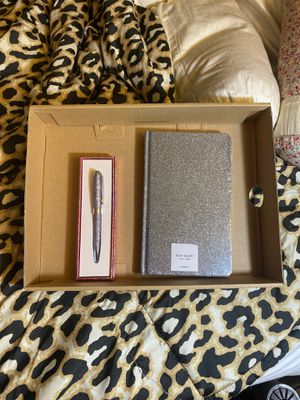 Kate Spade Glitter Pen & Notebook for Sale in South San Francisco, CA