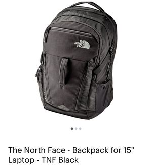 "The North Face Backpack 15"" - black for Sale in Centreville, VA"