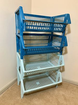 Stackable Storage Baskets (Set of 4) for Sale in Alexandria, VA