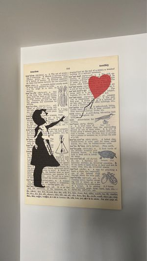'Upcycled Balloon Girl' Graphic Art Print I'm Wrapped Canvas for Sale in New York, NY