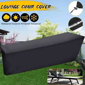 210X75X80cm Patio Chaise Lounge Cover Deck Chair Furniture Outdoor Waterproof Cover Black UV Resistant for Sale in Santa Ana, CA