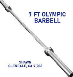 7-FT BARBELL - OLYMPIC SIZE - 45LBS for Sale in Glendale,  CA