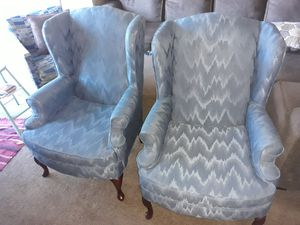 Blue Wing Back Chairs for Sale in Fort Wayne, IN