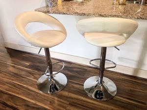 Leather barstools (2) for Sale in Spring, TX