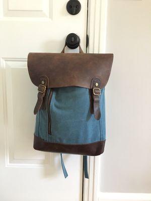 Canvas + Genuine Cow Leather backpack rucksack bookbag for Sale in Nashville, TN