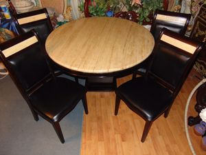 52 inches Ashley marble dining room set for Sale in Las Vegas, NV