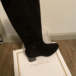 Brand New Black Macy Charter Club Boots 8.5size for Sale in Lawrenceville, GA