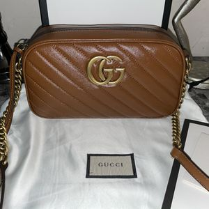 Gucci GG Marmont small Brown diagonal matelassé leather Bag for Sale in Brea, CA