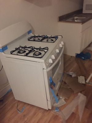 Package deal Refrigerator case stove and microwave for Sale in Philadelphia, PA
