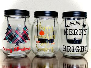 Mason jar candle holder for Sale in Cleveland, TX