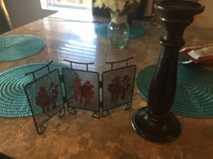 candle holder and small decor for Sale in Lemon Grove, CA