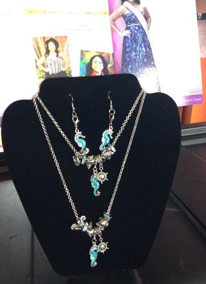 Aqua Blue Sea Horse Collection Jewelry Set for Sale in Detroit, MI