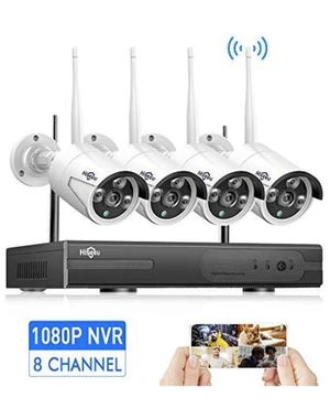 [8CH Expandable] Hiseeu Wireless Security Camera System with One-Way Audio,HD Video Security System for Sale in San Diego, CA