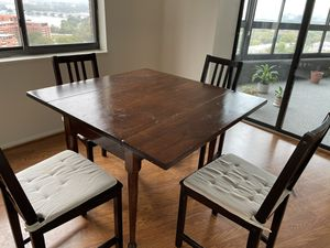 Rustic Wood Table and 4 Chairs for Sale in Washington, DC