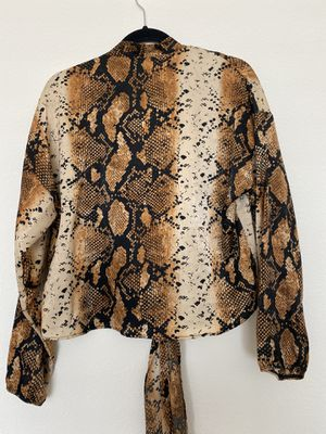 Snake Print Front Tie Blouse for Sale in Clovis, CA