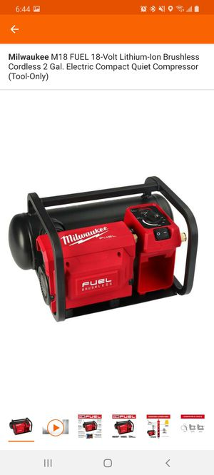 Milwaukee M18 FUEL 18-Volt Lithium-Ion Brushless Cordless 2 Gal. Electric Compact Quiet Compressor (Tool-Only) for Sale in Berkeley, IL