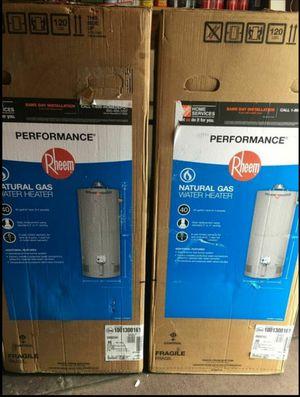 Rheem 40 Gallon Natural Gas Hot Water Heater. for Sale in Philadelphia, PA