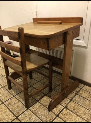 Kids wooden study desk and chair set for Sale in Walnut Creek, CA