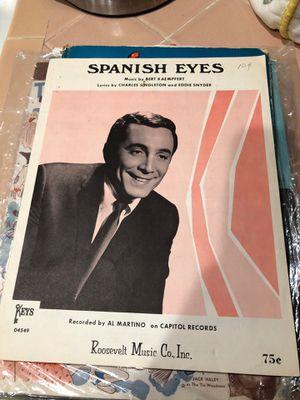 Spanish eyes sheet music for Sale in La Habra, CA