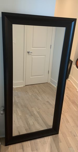 Tall Wall Mirror with Black Frame for Sale in Atlanta, GA