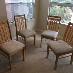Wooden Dining Chairs (Set Of 4) for Sale in San Jose, CA