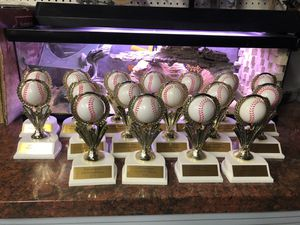 Baseball spinner trophy lot of 17 for Sale in Ladera Ranch, CA