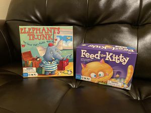 Elephant's Trunk and Feed the Kitty board games for Sale in Redmond, WA
