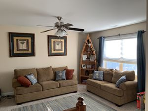 Microfiber comfy cozy couch and loveseat. for Sale in Knightdale, NC