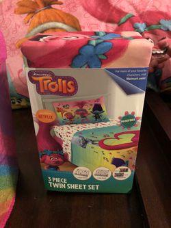 Trolls Twin Sheet Set for Sale in Lynnwood,  WA