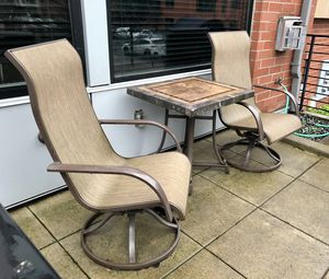 Outdoor Patio Furniture - 2X Reclining Chairs & Granite Table for Sale in Portland, OR