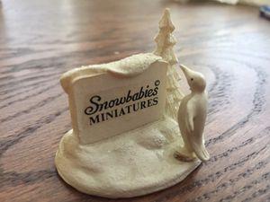 Snowbabies Miniature sign for Sale in Washington, DC