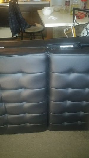 Leather futon sofa for Sale in Morgantown, WV