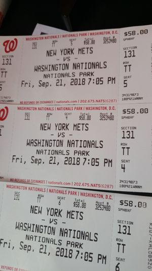 Baseball Tickets for Sale in Centreville, VA