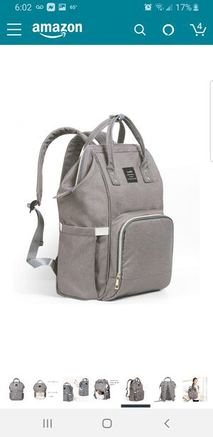 Space grey large diaper bag for Sale in Bell Gardens, CA