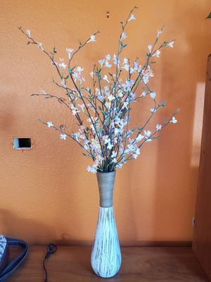 Large Vase with Artificial Flowers for Sale in San Diego, CA