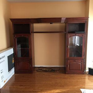 Wooden Entertainment center for Sale in Sterling, VA