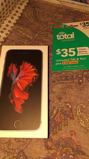 Brand New iPhone 6s with TOTAL wireless sim card and 1 month activation for Sale in Fullerton, CA