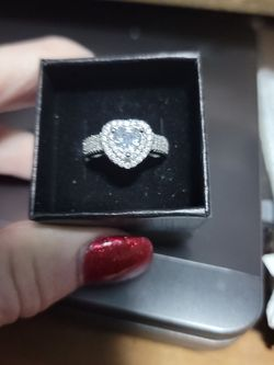 Size6 White Sapphire Sterling Silver Ring for Sale in Phenix City,  AL