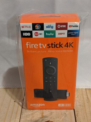 4K Amazon fire TV stick with Alexa voice remote for Sale in Williamsport, PA