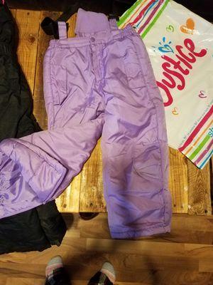 Girls M snow pants bibs for Sale in Caro, MI