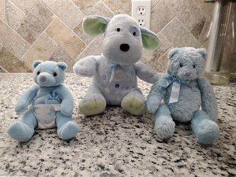 3 Blue Dog stuffed animals for baby for Sale in Alvord,  TX