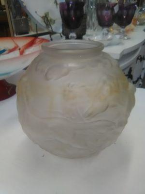 Vintage antique art glass vase horses flower vase for Sale in La Mesa, CA