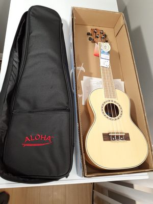 Brand New Spectrum Aloha Concert Size 24 inch Ukulele with gig bag and box for Sale in Arlington, TX