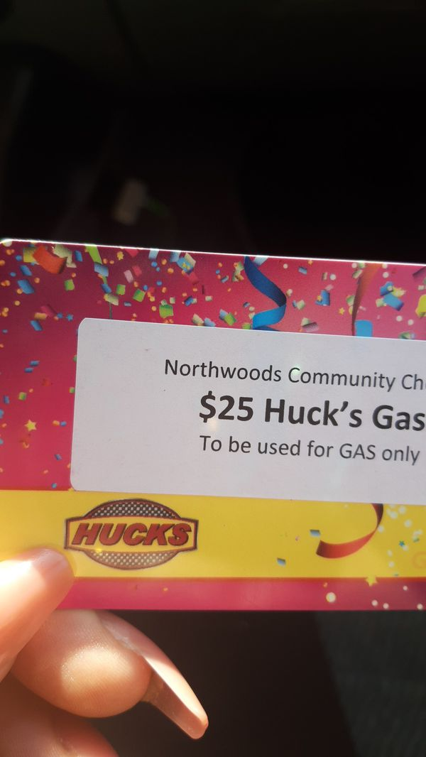 $25 gas card for anything at huck's