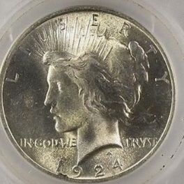 1924 Peace Silver Dollar Graded for Sale in Annapolis Junction, MD