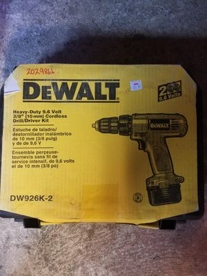 Dewalt cordless drill 9 volt for Sale in Deerfield, OH