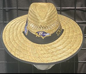 Baltimore Ravens straw hat (I also have other team) same day shipping if paid before 3pm for Sale in Baltimore, MD